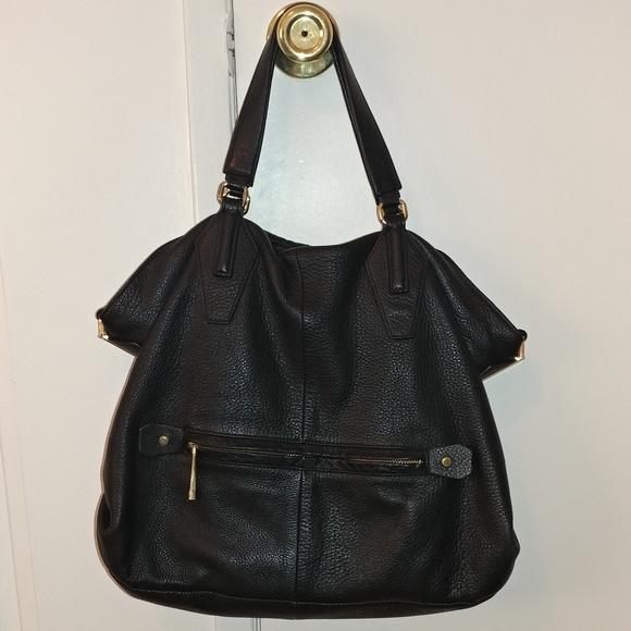 ad26da66be Authentic Halston Heritage Pebble Leather Satchel